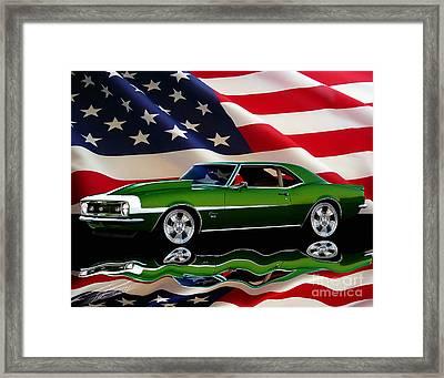1968 Camaro Tribute Framed Print by Peter Piatt