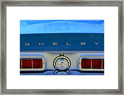 1968 Ford Shelby Gt500 Kr Convertible Rear Emblems Framed Print by Jill Reger