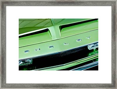 1968 Shelby Gt 500 Kr Fastback Grille Emblem Framed Print by Jill Reger