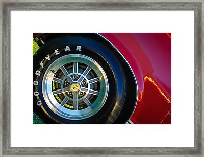 1968 Shelby Gt500 Kr Fastback Wheel Emblem -1112c Framed Print by Jill Reger