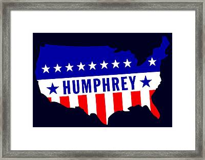 1968 Vote Humphrey For President Framed Print by Historic Image