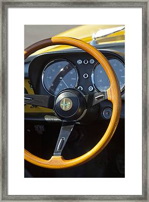 1969 Alfa Romeo 1750 Spider Steering Wheel Framed Print by Jill Reger