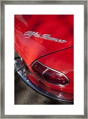 1969 Alfa Romeo 1750 Spider Taillight Emblem Framed Print by Jill Reger