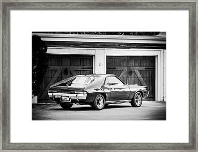 1969 Amc Amx -0100bw Framed Print by Jill Reger