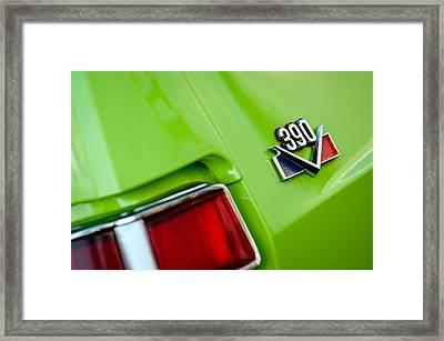 1969 Amc Amx California 500 Special Emblem Framed Print by Jill Reger