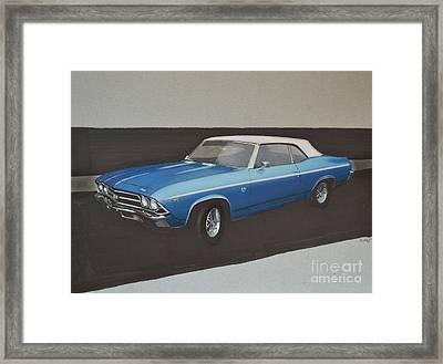 1969 Chevelle Framed Print by Paul Kuras