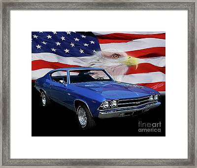 1969 Chevelle Tribute Framed Print by Peter Piatt