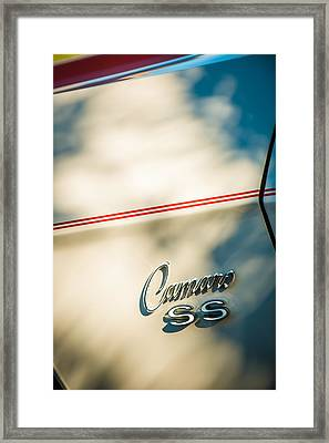 1969 Chevrolet Camaro Rs-ss Indy Pace Car Replica Side Emblem Framed Print by Jill Reger