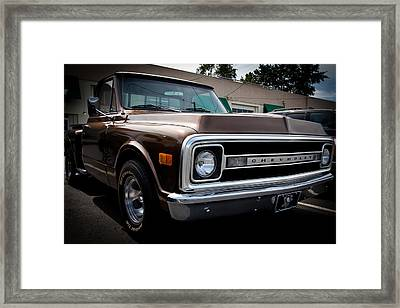 1969 Chevy Pickup Framed Print by David Patterson
