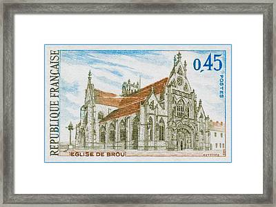 1969 Church Of Brou Framed Print by Lanjee Chee