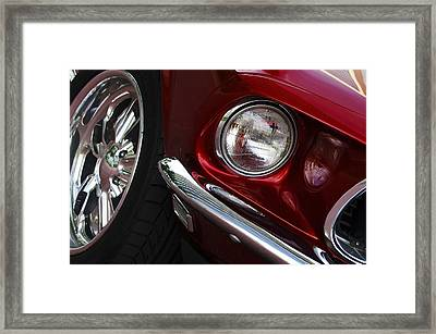 1969 Ford Mustang Mach 1 Front Framed Print by Jill Reger