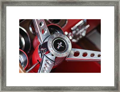 1969 Ford Mustang Mach 1 Steering Wheel Framed Print by Jill Reger