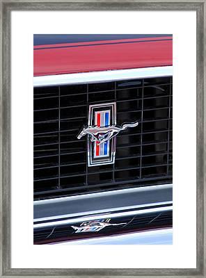 1969 Mustang Mach 1 Grille Emblem Framed Print by Jill Reger