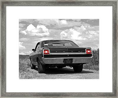 1969 Torino Cobra Jet On A Country Road Framed Print by Gill Billington