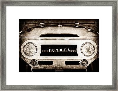 1969 Toyota Fj-40 Land Cruiser Grille Emblem -0444s Framed Print by Jill Reger