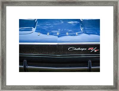 1970 Dodge Challenger Rt Convertible Grille Emblem -0545c Framed Print by Jill Reger