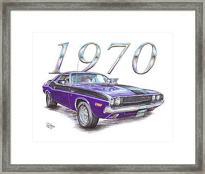 1970 Dodge Challenger Framed Print by Shannon Watts