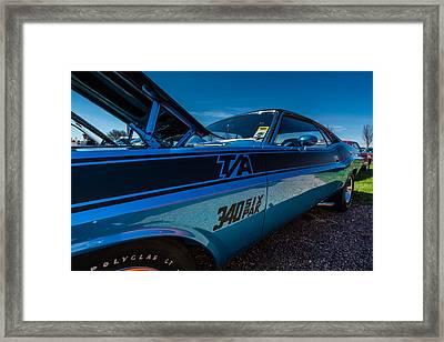 1970 Dodge Challenger T/a Framed Print by Randy Scherkenbach