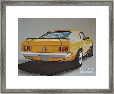 1970 Mustang Fastback Framed Print by Paul Kuras