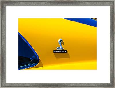 1970 Shelby Cobra Gt350 Fastback Emblem Framed Print by Jill Reger