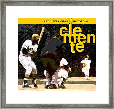 1971 All Star Game Framed Print by Ron Regalado