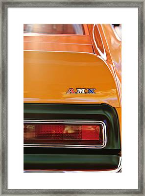 1971 Amc Javelin Amx Taillight Emblem Framed Print by Jill Reger