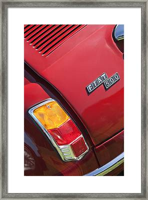 1971 Fiat 500 Jolly Taillight Framed Print by Jill Reger