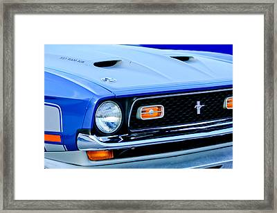 1971 Ford Mustang Boss 351 Cleveland Framed Print by Jill Reger
