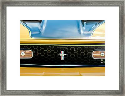 1971 Ford Mustang Mach 1 Front End Framed Print by Jill Reger