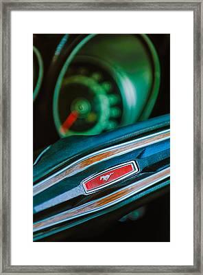 1971 Ford Mustang Mach 1 Steering Wheel Emblem Framed Print by Jill Reger