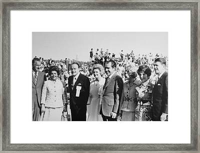 1971 Nixon Campaign Event Framed Print by Everett