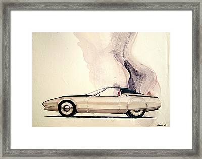 1972 Barracuda  Cuda Plymouth Vintage Styling Design Concept Sketch C69b Framed Print by John Samsen