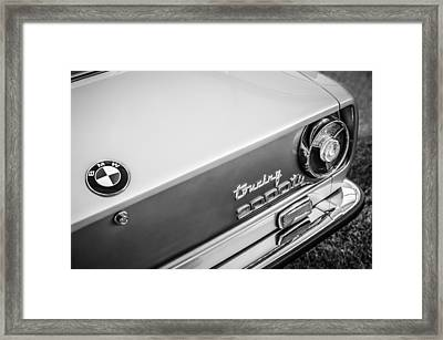 1972 Bmw 2000 Touring Tii Taillight Emblem -0159bw Framed Print by Jill Reger
