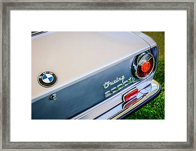 1972 Bmw 2000 Touring Tii Taillight Emblem -0159c Framed Print by Jill Reger