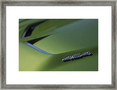1972 Chevrolet Corvette Convertible Stingray 454 Hood Framed Print by Jill Reger