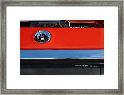 1972 Plymouth Road Runner Hood Emblem Framed Print by Jill Reger