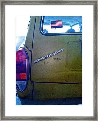 1972 Volkswagen Squareback Framed Print by Bill Owen