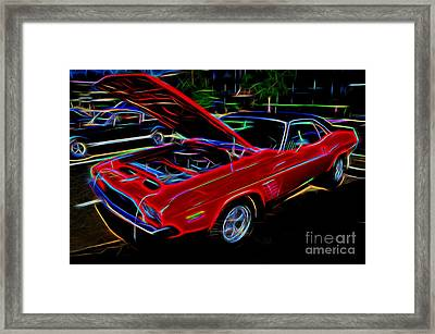 1973 Dodge Challenger - Classic Muscle Car  Framed Print by Gary Whitton