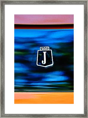1974 Jensen Interceptor Emblem Framed Print by Jill Reger
