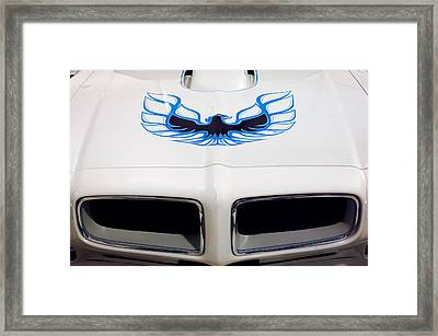 1975 Pontiac Trans Am Firebird Hood Painting Framed Print by Jill Reger