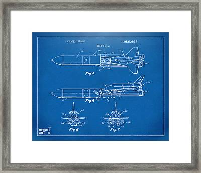 1975 Space Vehicle Patent - Blueprint Framed Print by Nikki Marie Smith