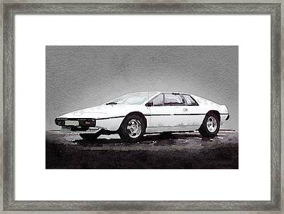 1976 Lotus Esprit Coupe Framed Print by Naxart Studio