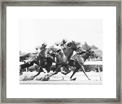 1976 Rockingham Park Vintage Horse Racing Framed Print by Retro Images Archive