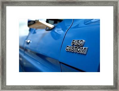 1977 Ford F 150 Custom Name Plate Framed Print by Brian Harig