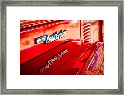 1977 Toyota Land Cruiser Fj40 Emblem -0952c Framed Print by Jill Reger