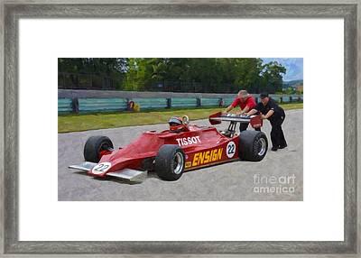 1979 Ensign N179 Formula One Framed Print by Tad Gage