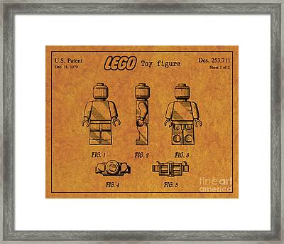 1979 Lego Minifigure Toy Patent Art 4 Framed Print by Nishanth Gopinathan