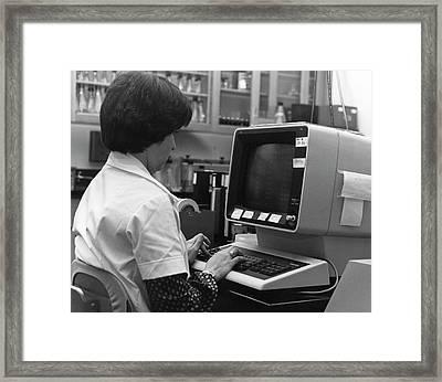 1980s Influenza Testing Lab Framed Print by Cdc