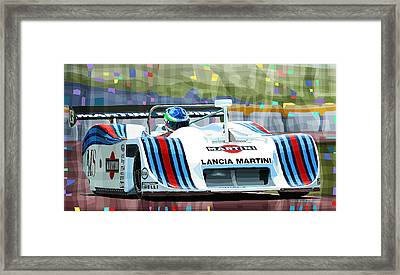 1982 Lancia Lc1 Martini Framed Print by Yuriy  Shevchuk