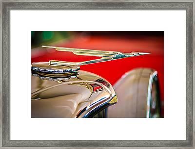 1984 Duesenberg Sj - Twenty Grand - Tribute Hood Ornament -1652c Framed Print by Jill Reger